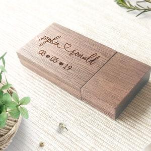 Wedding Flash Drive Personalized Custom engraved 8GB 16GB and 32 GB Maple Wood