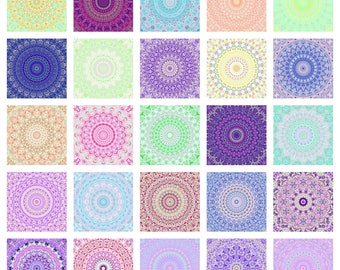 Groovy Trippy Boho Hippie Abstract Digital Symmetrical Mandala Art - 25 Digital Prints, Commercial use allowed!