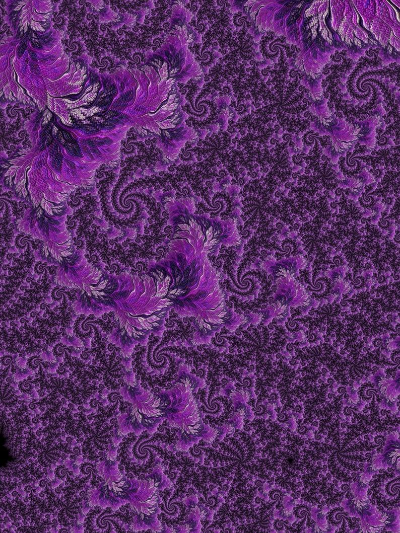 Monochromatic Purple Fractal  Digital Print Commercial use image 0