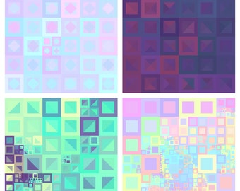 Geometric Art - Abstract Digital Prints, Commercial use allowed!