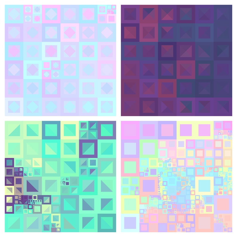Geometric Art  Abstract Digital Prints Commercial use image 0