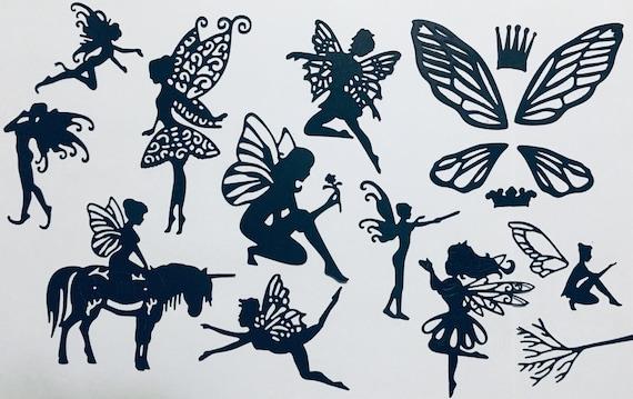 Fairy Crouched//Kneeling Metal Cutting Die New Cardmaking Scrapbooking