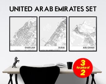 Abu dhabi city map | Etsy