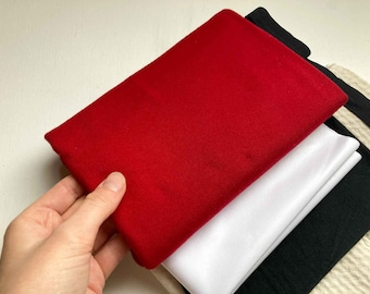 Period Panty Sewing Kit with Deep Red Organic Cotton Material - Period Pants fabric - DIY Period - Sew Menstrual Underwear kit -