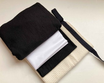 Period Panty Sewing Kit with Black Organic Cotton Material - Period Pants fabric - DIY Period - Sew Menstrual Underwear kit -