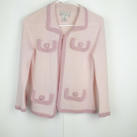 Nanette Lepore Pink Pure Cashmere Cardigan sweater