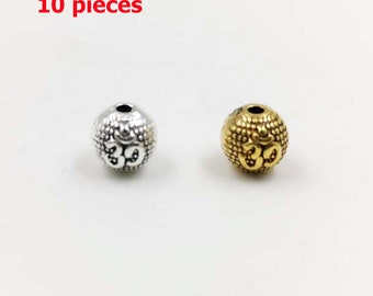 10pcsbag Golden and Silver spacer bead MAKING Tasbih beads