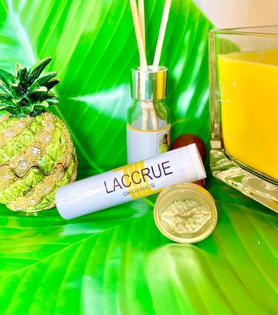LACCRUE Organic Coconut Lip Balm - Handcrafted - organic lip balm - natural lip balm - lip care - tropical organics - fruity lip balm