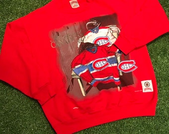 39dae654c Nutmeg Mills Montreal Canadiens Crewneck Sweater Red Size Medium