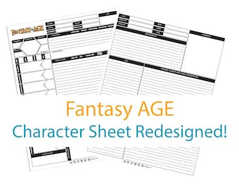 Fantasy AGE Character Sheet Redesigned!