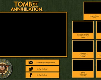 Customized Twitch overlay for TTRPG campaigns