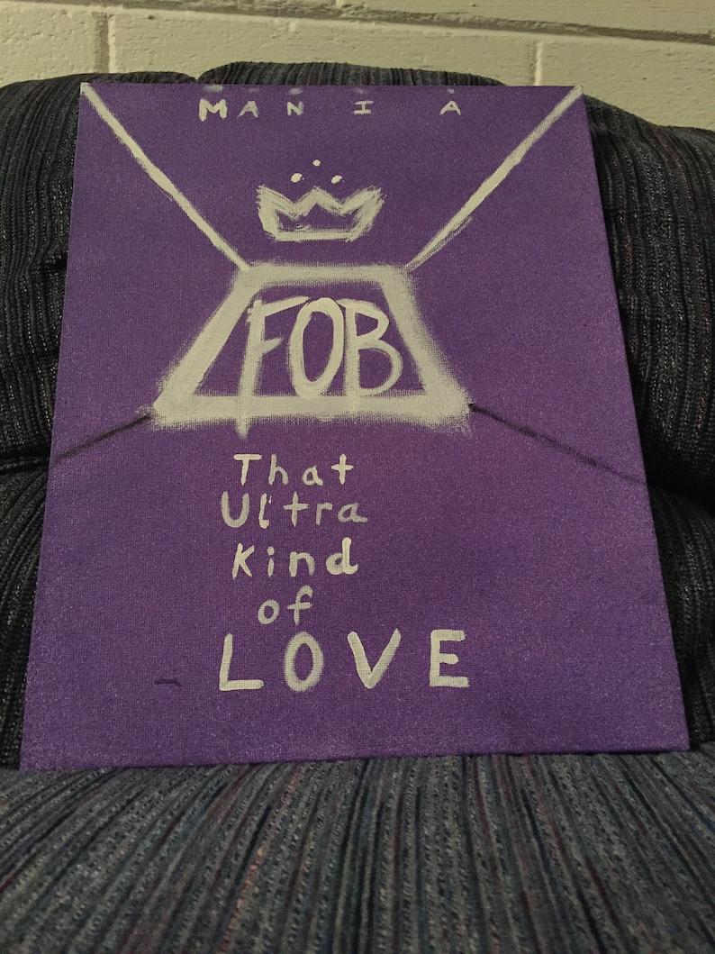 Canvas Fall Out Boy Mania Album Art Print Poster