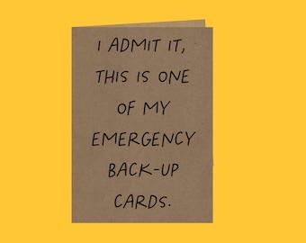 Funny Birthday Card   Recycled Card   Birthday Card   Humour Cards   Cheeky Card   Plastic Free Card   Humour Card   Handmade Card   Homemad