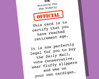 Retirement Card | Sorry You're Leaving Card | Daily Mail Card | Leaving | Freedom Card | Goodbye Card | leaving Card | Funny Retirement card