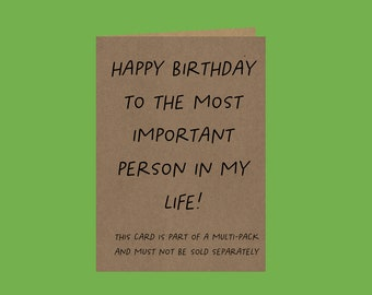 Multi-pack Birthday Card