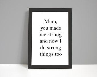Strong Mum - Print