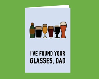 Dads Glasses, birthday card