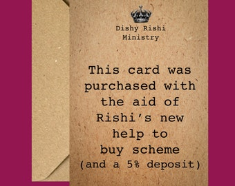 Birthday Card | Funny Card | Card for him | Card for her | Greetings Card | Generic Card | Boris Johnson | Lockdown Card | Rishi