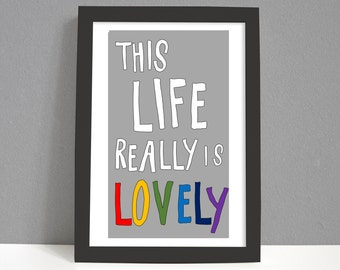 Inspirational Print | Mother's Day Print | Motivational Print | Positive Vibes | Bedroom Print | For Him | Gift for Her | Love