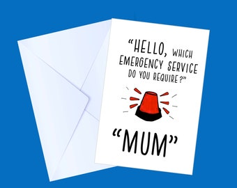 Birthday Card for Mum | Birthday | Cards for Her | Funny Cards | Humorous Cards | Step Mum | Handmade Card | Homemade Card | Family