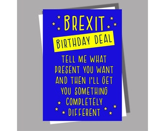 Brexit Birthday Card | Funny Birthday Card | Boris card | Card for him | Card for her | Card for mum | card for dad