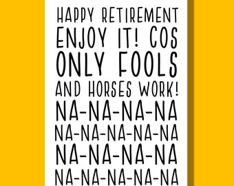 Retirement Card | Leaving Card | Retirement | Goodbye Card | Funny Card | Only Fools and Horses | Congratulations Card
