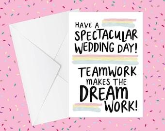 Wedding Card | Handmade Cards UK | Wedding | Congratulations | Funny Card | Relationship Card | Humour | Finance Card | Financee
