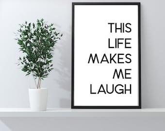 Positive Prints | Positivity | Motivational Prints | Word Prints | Funny Prints | Bathroom Prints | Bedroom Prints