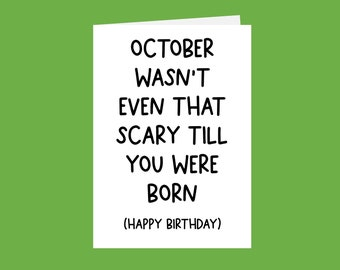 October Birthday