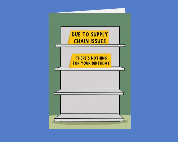 Supply Issues Card