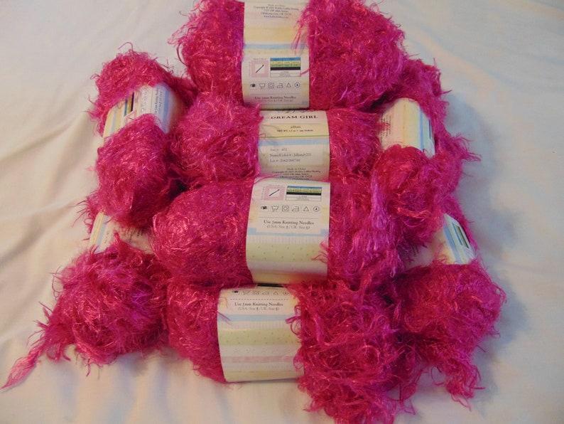Pink jillian yarn Pink Fuzzy yarn Dream Girl Yarn Pink Fringe yarn 14 skeins of yarn jillian Yarn Bee Dream Girl Yarn Bee yarn