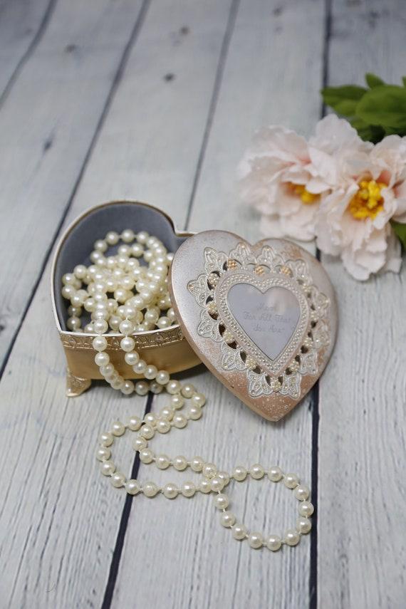 Engraved Mom Swarovski Crystals Jewelry, Swarovski Jewellery Box With Mirror