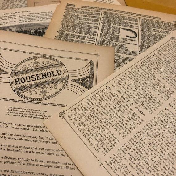 Digital Vintage Ephemera Packet  Digital Ephemera  1939 School Reader Ephemera  Scrapbook Digital  Journal Ephemera  Digital Paper