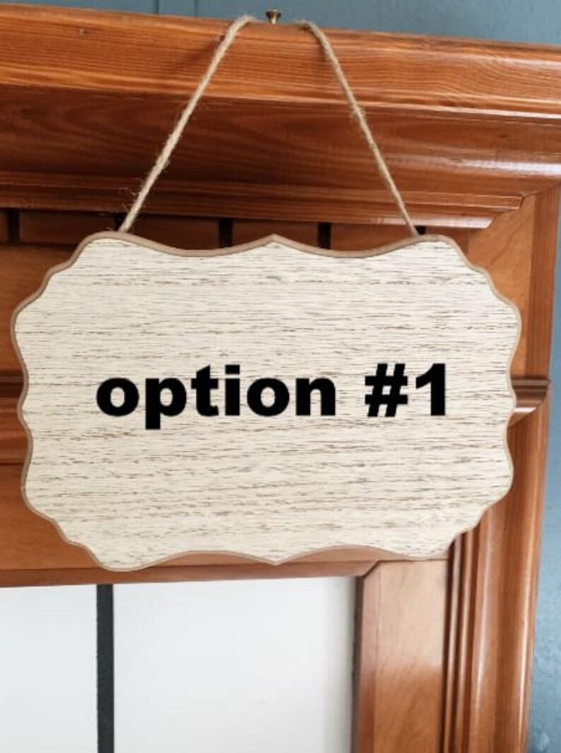 Last Name Door Hanger Personalized Door Sign Last Name Door Sign, Personalized Outdoor Home Hanger Personlized Wood Door Hanger