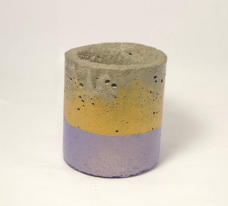 Concrete Metallic Purple /& Gold ToothbrushPaste Holder
