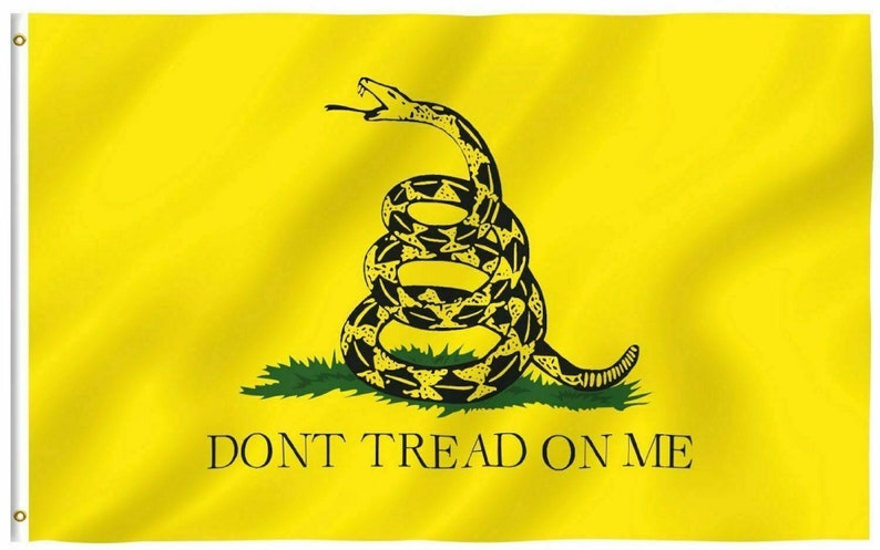 Don't Tread on Me 3x5 Gadsden Flag Gadsden Tea Party image 0
