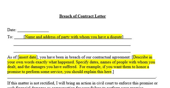 Breach Of Contract Letter Before Action from i.etsystatic.com