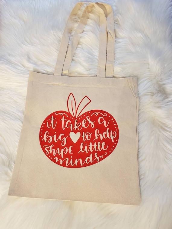 Carrier Shopper Fun Present Gift Work Idea Personalised Teacher Crayon Tote Bag