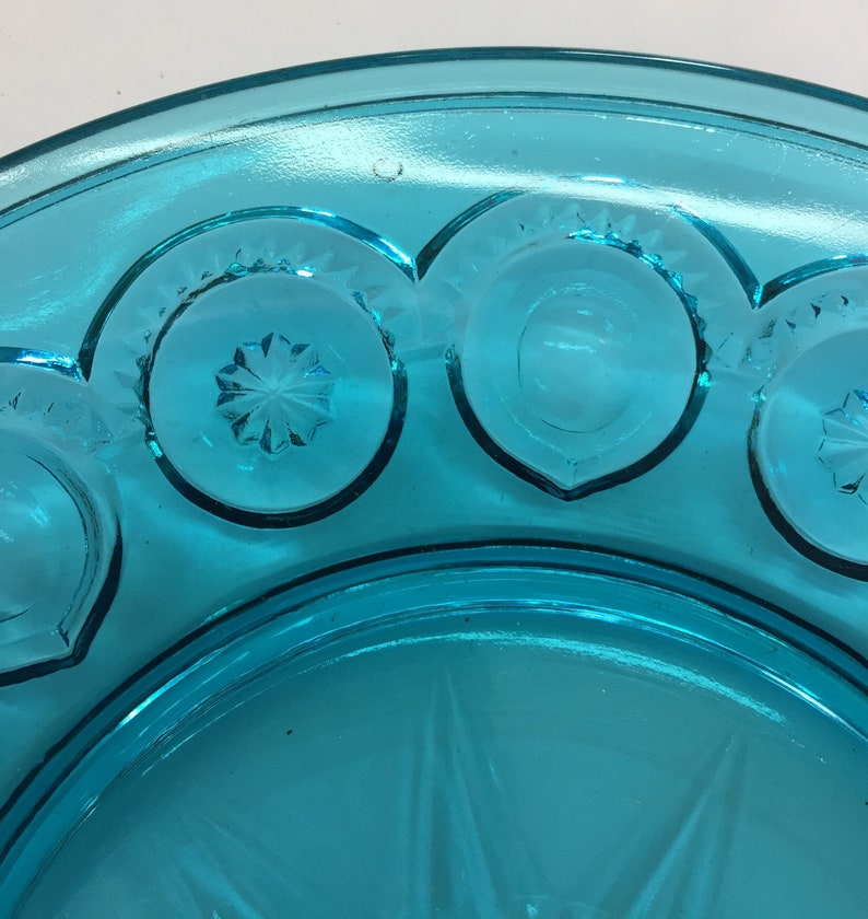 Smith Vintage Blue Moon and Stars Pattern Salad Plates E L