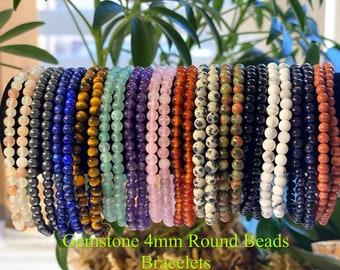 Stacking bracelet Amazonite natural gemstone personalized stretch bracelet Stacking Inspiring word bracelet Initials and name jewelry