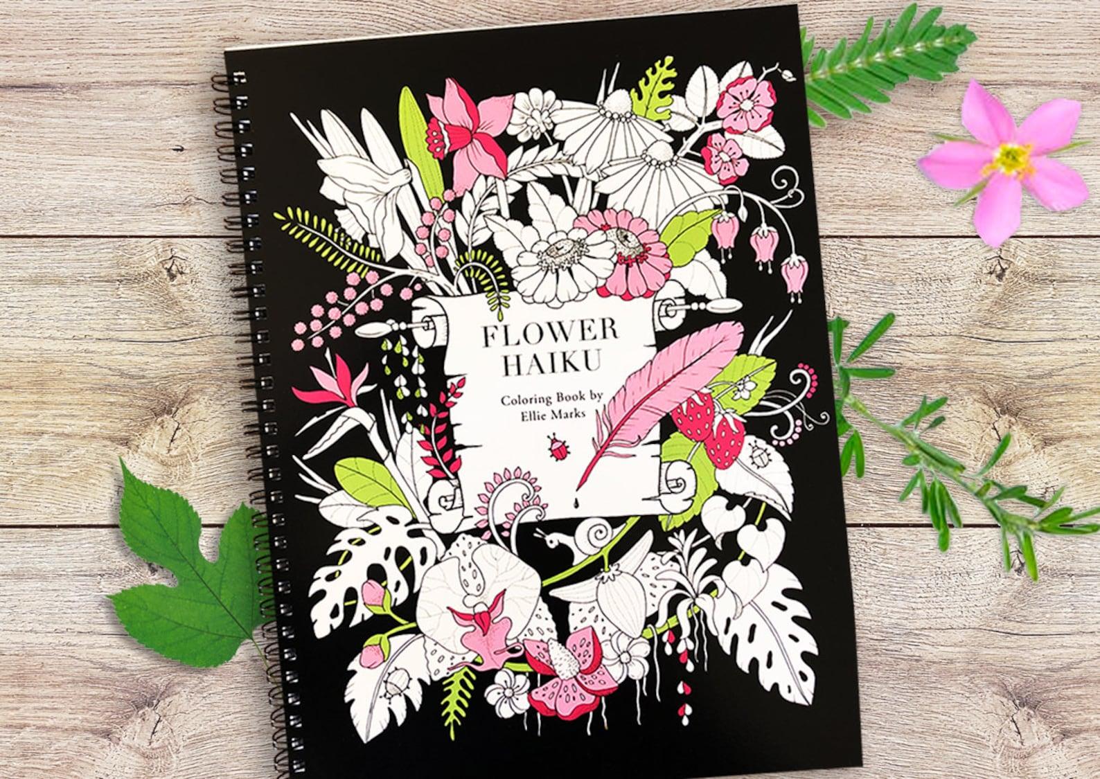 Flower Haiku Coloring Book