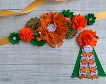 beige tan ivory sash orange yellow navy burgundy brown Sash maternity sash Sash neutral sash fall autumn sash  flower Belt