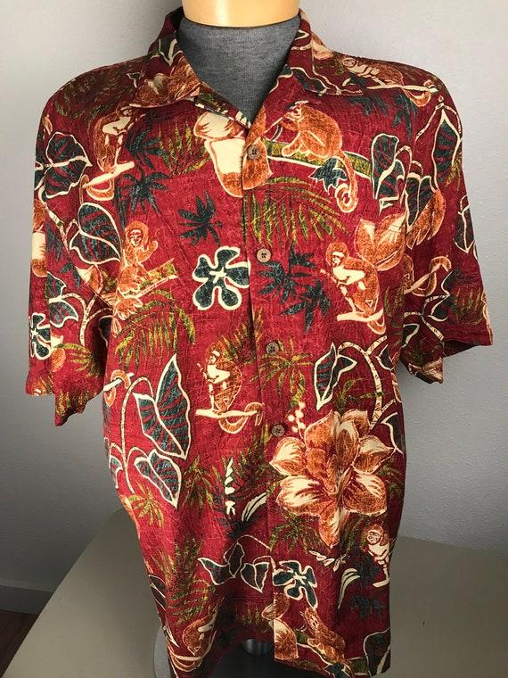 Vtg Tommy Bahama batik shirt