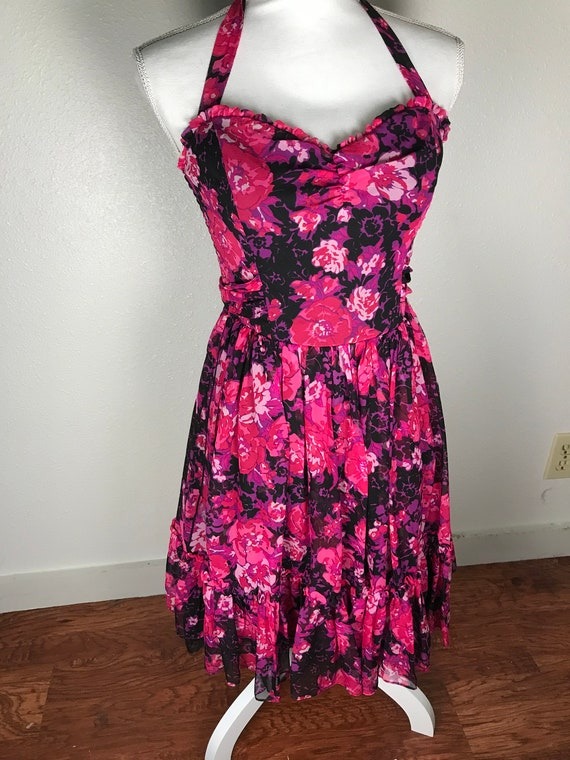 Betsey Johnson halter neck dress