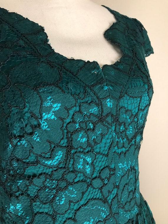 Betsey Johnson teal lace dress