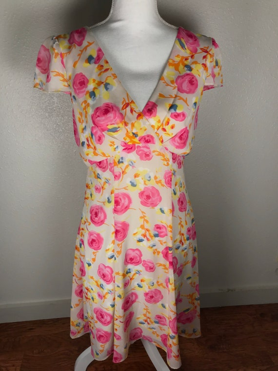 Vintage 90s Betsey Johnson Wiggle Dress  Floral Betsey Johnson