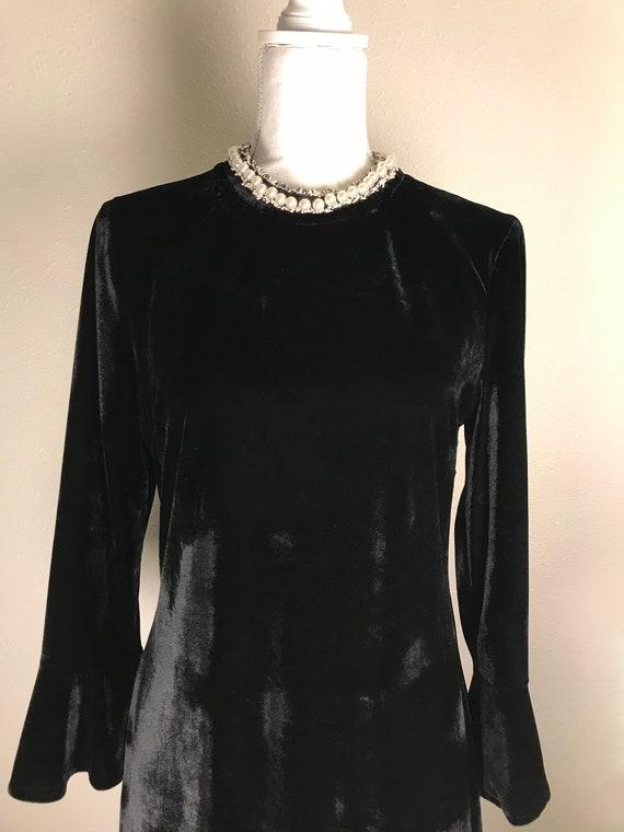 Betsey Johnson Black Velvet Dress