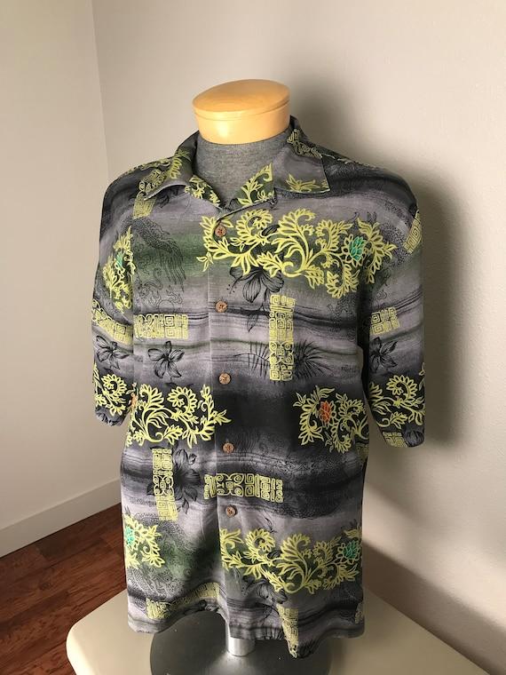 Vtg Tommy Bahama Dragon and Lotus shirt
