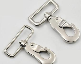 20mm Light Swivel Trigger Hooks x10 Clips Nickel Webbing bag making dog lead