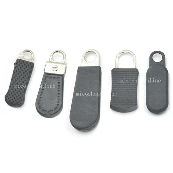 #5 Zipper Fixer Repair Pull Tab PU leather Instant Kit Pants Replacement Slider